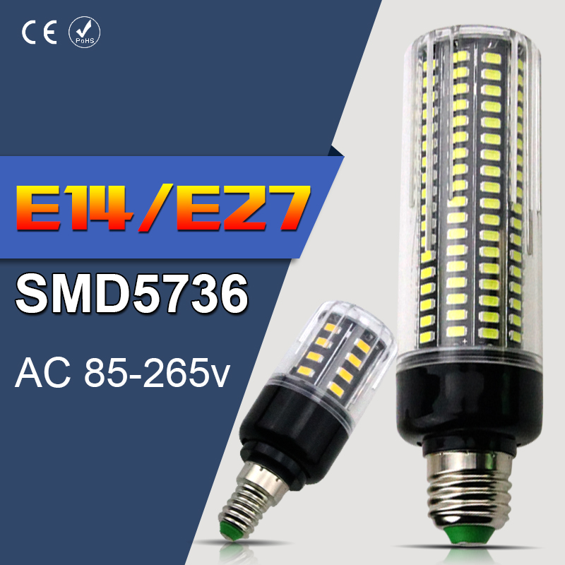 LED Corn Lamp E27 28 40 72 108 132 156 189leds Aluminum Light Bulbs No Flicker 3.5W 5W 7W 9W 12W 15W 20W Smart IC E14 AC85-265V