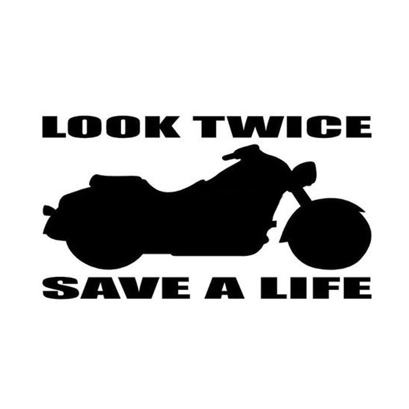 CM LOOK TWICE SAVE A ALIFE Car Sticker Decal Funny - Funny motorcycle custom stickers decals