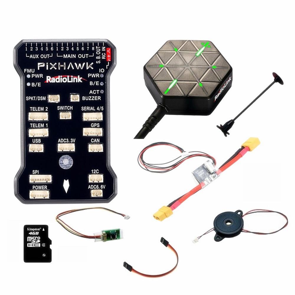 Date D'origine Radiolink PIXHAWK Contrôleur de Vol M8N GPS pour AT9/AT10 Télécommande OSD DIY RC Multicopter Drone