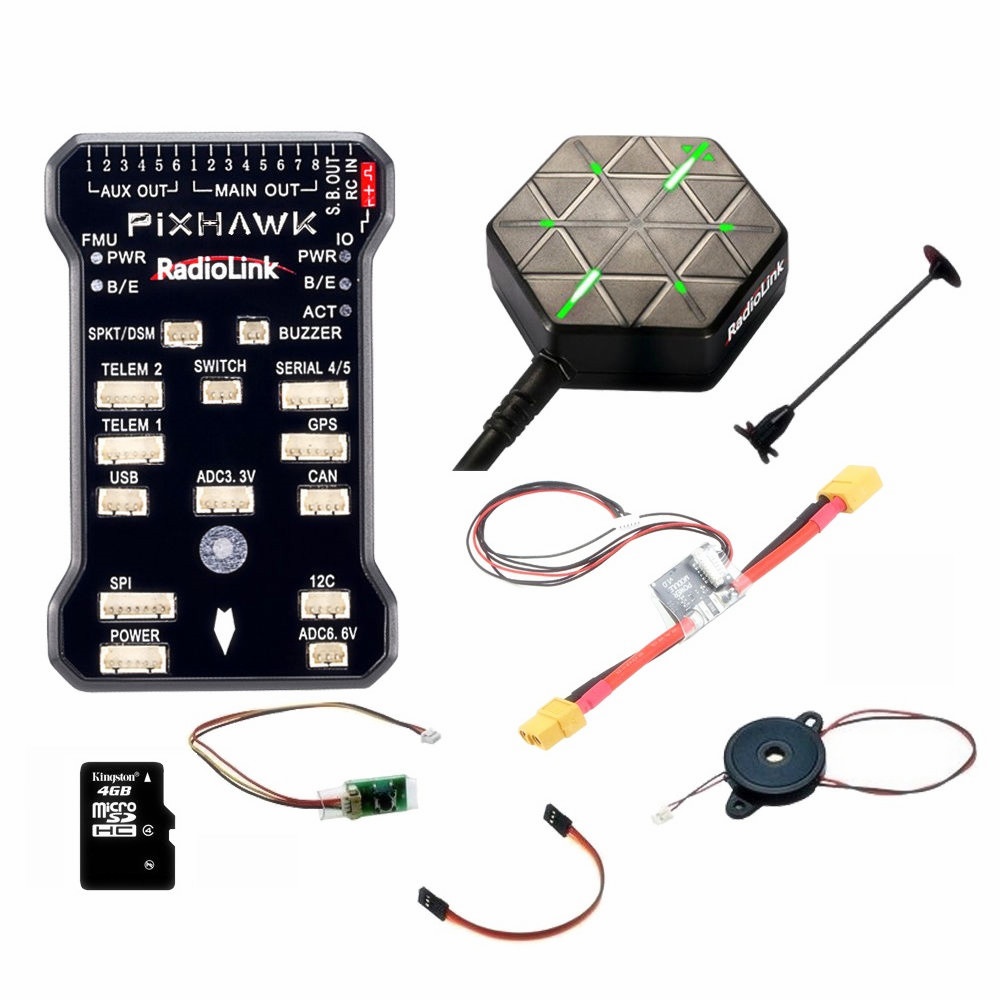 Newest Original Radiolink PIXHAWK Flight Controller M8N GPS for AT9/AT10 Remote Controller OSD DIY RC Multicopter Drone