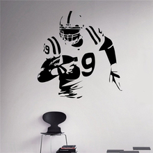 American Football Wall Decal Football Player Vinyl Sticker Extreme Sport Home Interior Murals Housewares Vinyl Graphics american interior