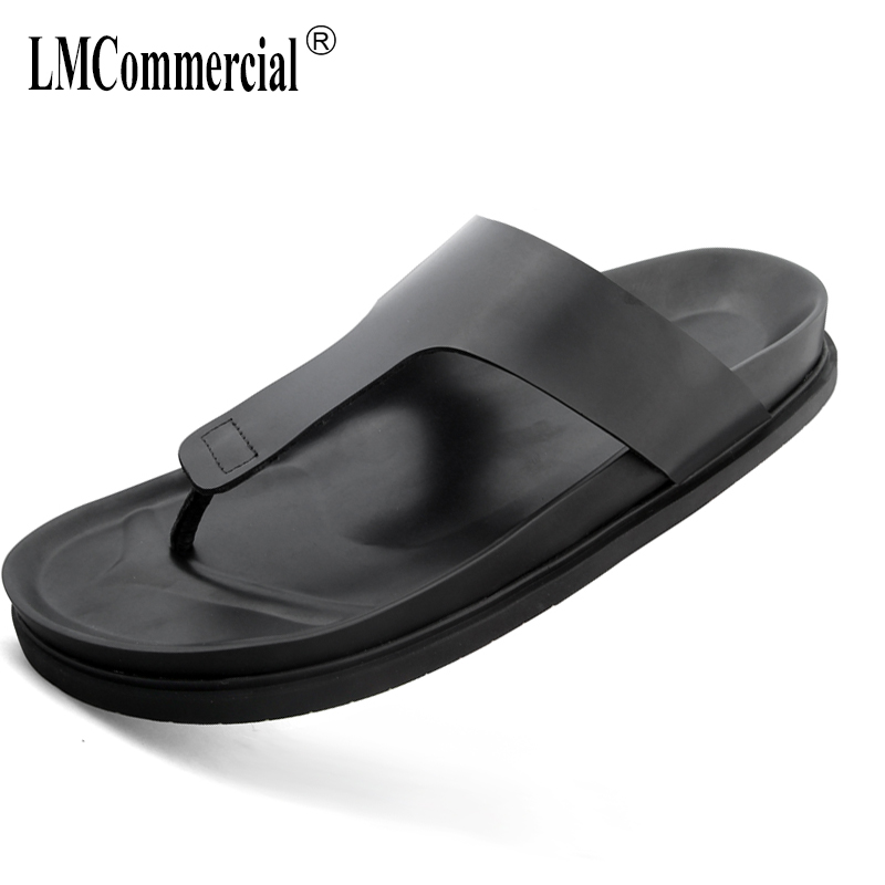 Genuine leather men's Rome sandals summer cowhide Sneakers Men Slippers Flip Flops casual Shoes beach outdoor anti-skid male 2017 hot sale mens casual sandals summer leather anti skid men flip flops fashion genuine leather outdoor cool slippers original