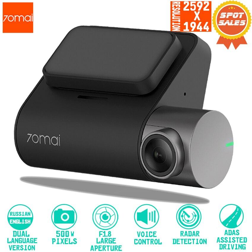 70mai Dash Cam Pro inteligente coche 1944 P grabación de vídeo HD con función WIFI Cámara de vista trasera del monitor de aparcamiento