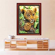 DIY Cross Stitch Embroidery Little Leopard Design Needlework Free Shipping 9fa13d002e99