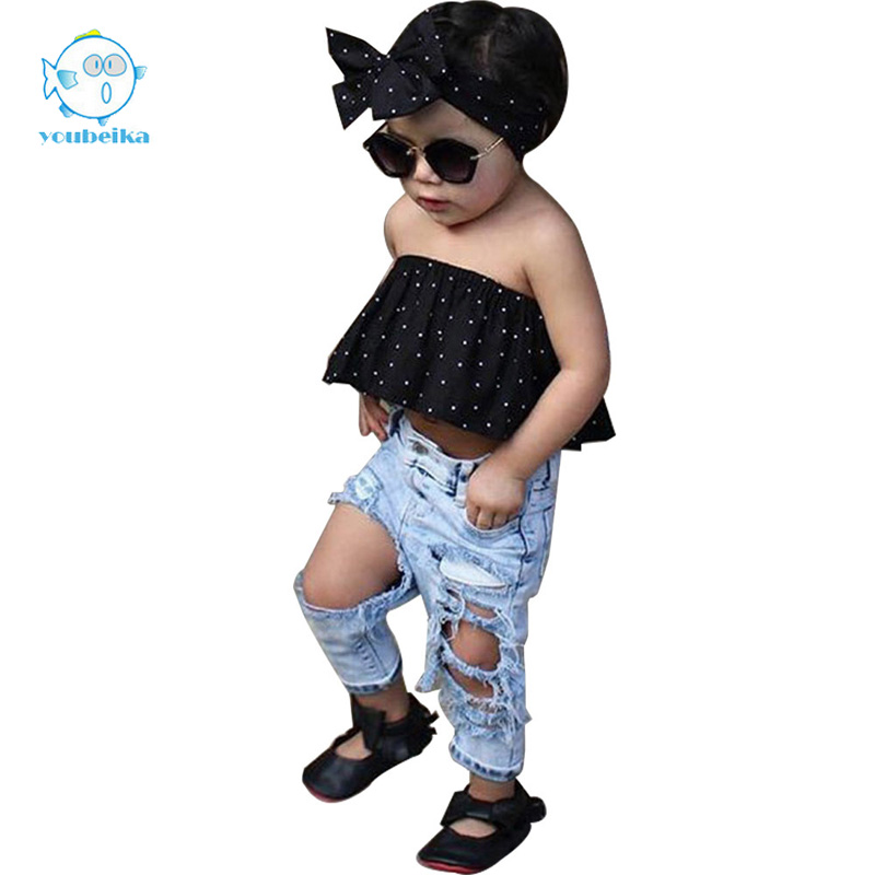 2017 Children Jeans For Girls Big Hole Cotton Jeans Baby Girls Cowboy Trousers Fashion Kids Light Pants For Boys And Girls Jeans 2018 spring girls and boys fashion loose straight elastic waist plaid cotton pants kids children casual wholesale long trousers