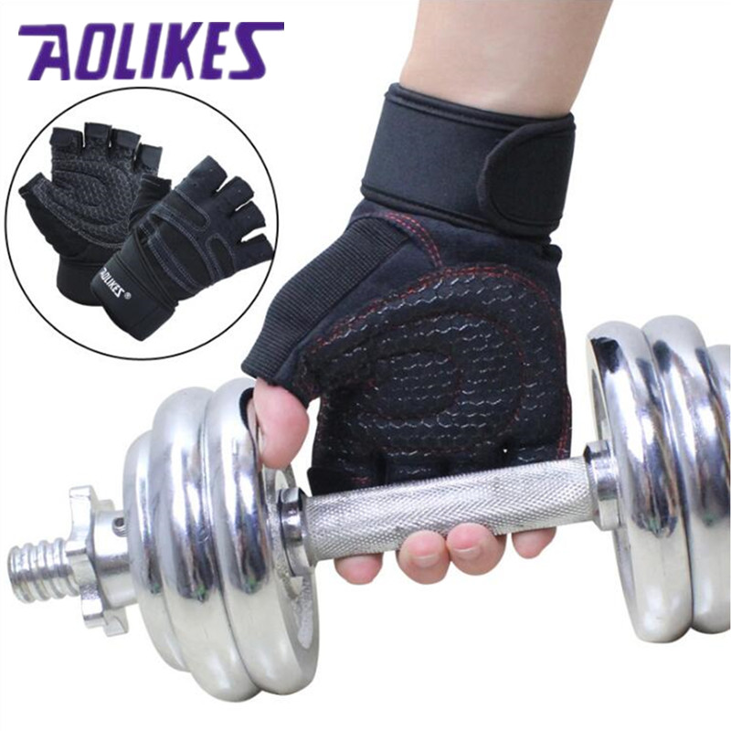 Hight Quality Tactical <font><b>Gloves</b></font> <font><b>Gym</b></font> Body Building Training Sports Fitness Guantes Weight Lifting <font><b>Gloves</b></font> Exercise For Men And Women