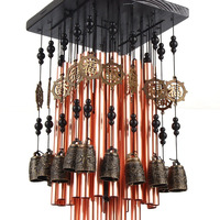 Outdoor Indoor 28 Metal Tube Wind Chime with Copper Bell Large Windchimes for Patio Garden Terrace W3089