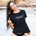 Я СВОБОДНО ГОВОРЮ НА САРКАЗМ 2017 Мода harajuku футболка Женщин футболка Лето Топы с коротким рукавом Письмо Печати Черной футболке femme