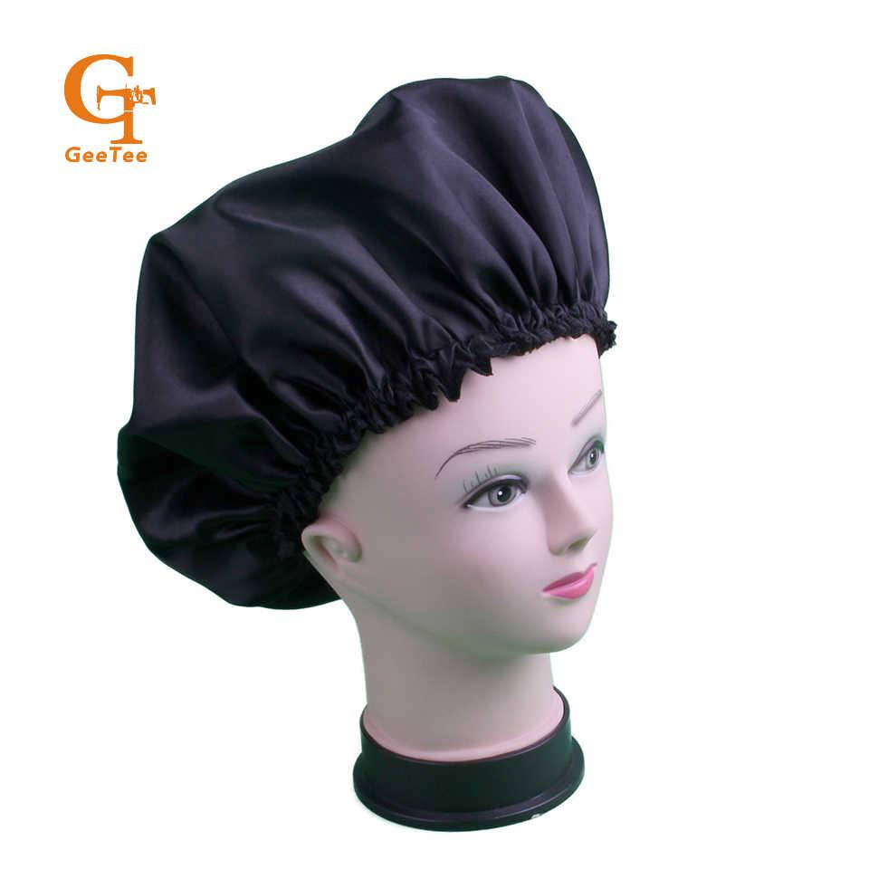 Blank Human Satin Virgin Hair extensions bundles wigs cap bonnet,sleep hair protect bonnet, silk double layer luxury bonnet