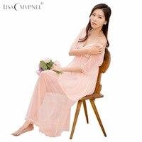 Lisacmvpnel Phương Thức Phụ Nữ Vá Áo Ngủ Ren Sexy Sâu V Nữ Lingerie Dress