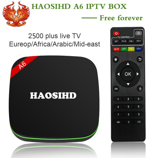 US $90 99 30% OFF|arabic iptv free forever FireTV A6 iptv box with netflix  free 2500 HD Europe Portugal Swedish France Spain Africa live tv VOD-in