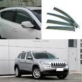 For Jeep Cherokee Limited 2014+ Window Wind Deflector Visor Rain/Sun Guard Vent
