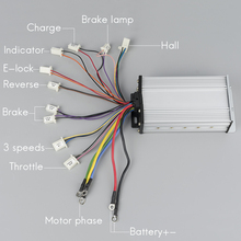 KUNRAY Высокое Качество Бесщеточный Регулятор скорости двигателя 12Mosfet 800 Вт-1600 Вт 48 В постоянного тока электровелосипед скутер аксессуары