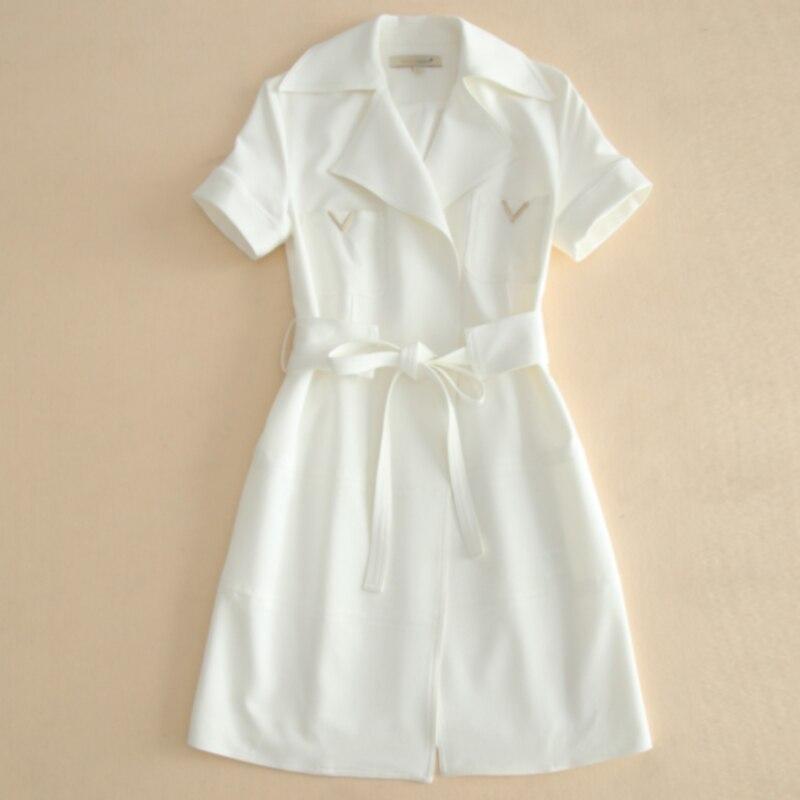 Piste Chic Mode Élégant Bureau Courte De Casual Vintage Nouvelles Sexy Robes 2018 Blanc Partie Femmes Haute Robe Automne Carrière Qualité 5FzAnwffT