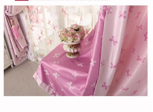 Pink Curtains For Living Room Bedroom Children Kids Baby Curtain Blackout 3 Colors