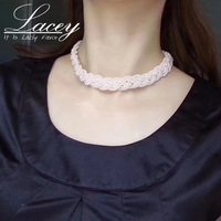 Handmade Natual Real Pearl Necklace For Women,925 Streling Silver Freshwater Pearl Chokers Necklace New Arrival