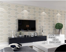 beibehang Simple modern stylish papier peint three-dimensional striped non-woven 3d wallpaper Bedroom living room TV backdrop