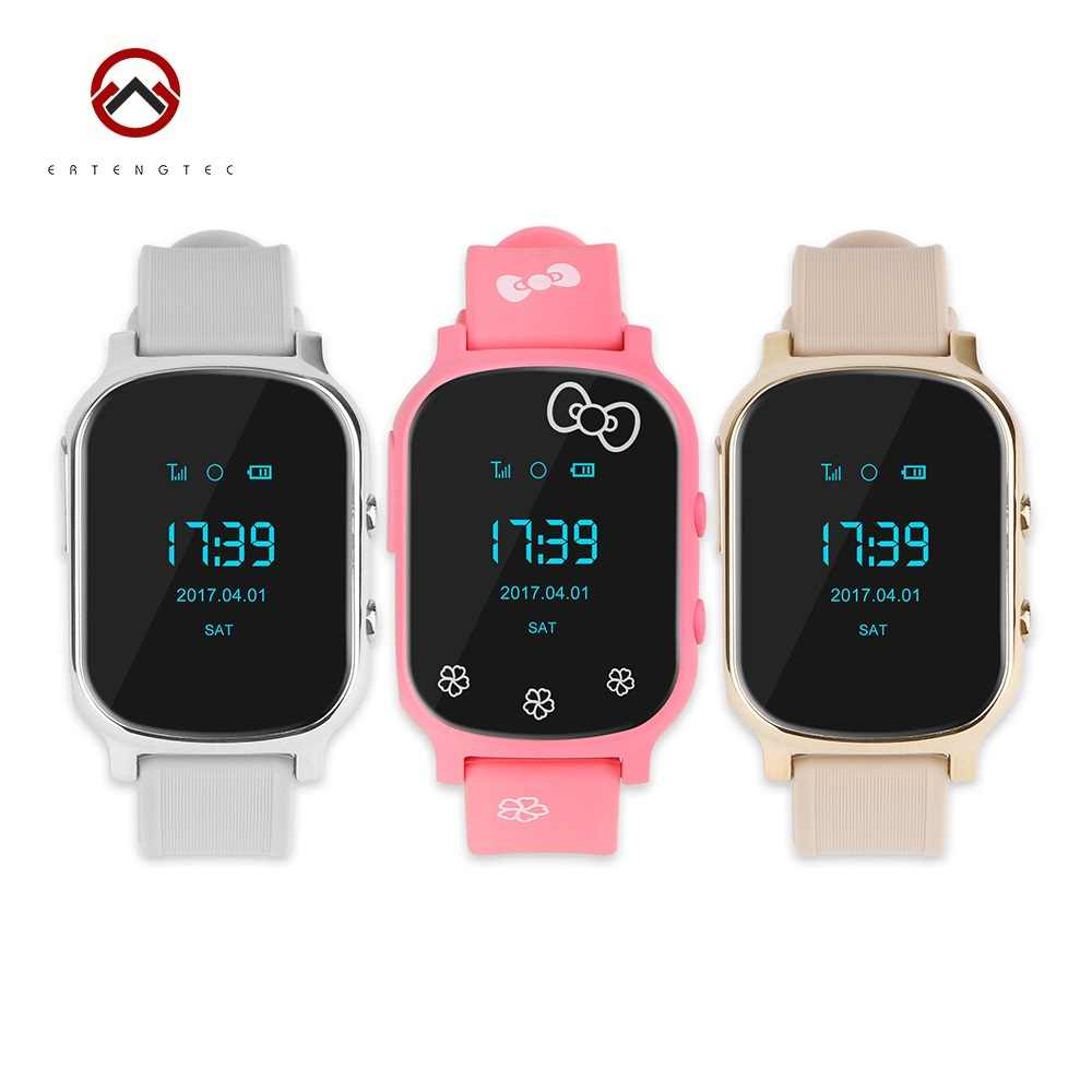 Smart Watch GPS Tracker Children Listening Device LBS WIFI GPS Locator SOS Call T58 Realtime Tracking Geo-fence Alarm Free APP