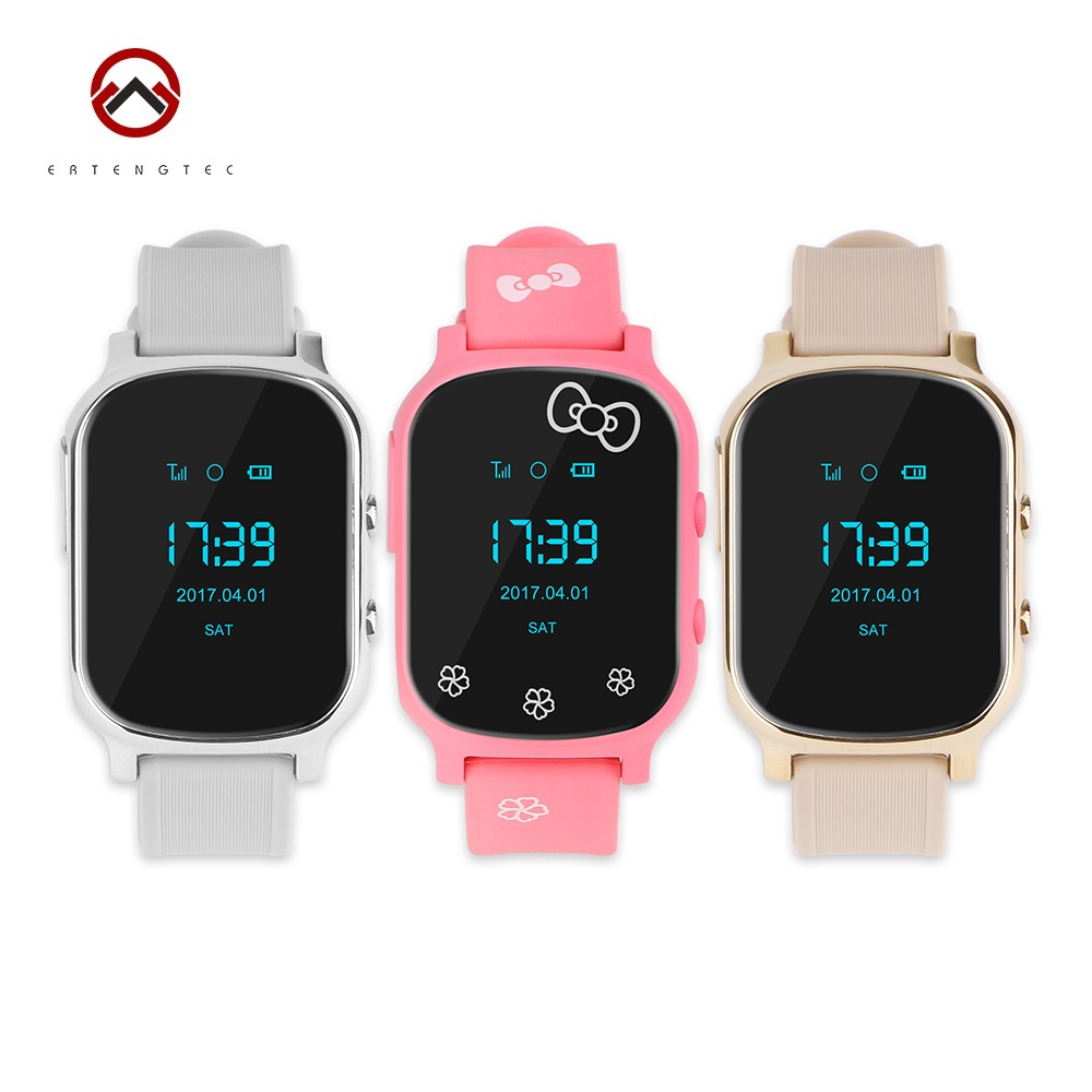Gps Tracker Smart Watch Kids Child Bracelet Personal