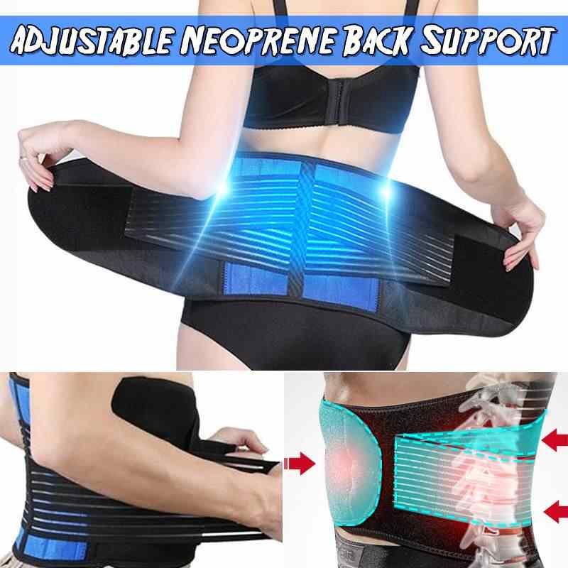 Duurzaam Taille Brace Riem Lumbale Lagere Taille Dubbele Verstelbare Terug Riem Voor Pijnbestrijding Accessoires Grote Mannen 5XL 6XL