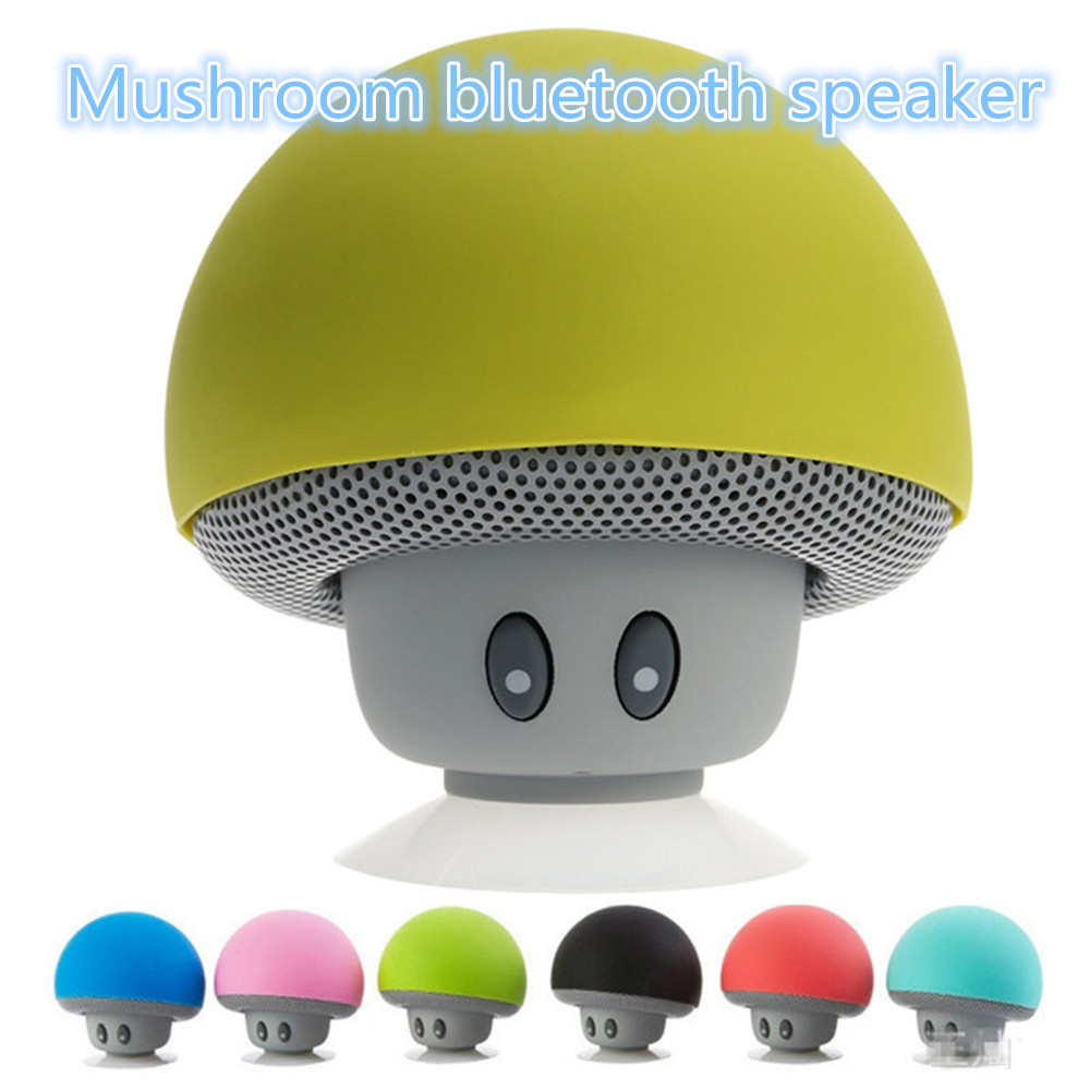 Enseinte Bluetooth Us 39 89 Mushroom Waterproof Silicon Suction Cup Handfree Holder Mini Wireless Enceinte Bluetooth Speakers Receiver Portable Speaker Mp3 In Portable
