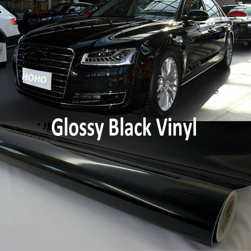 Auto Car Glossy Black Film Car Body Protector Self Adhesive Vinyl Film Air Bubble Free Stickers DIY Car Exterior Film 1.52x3m