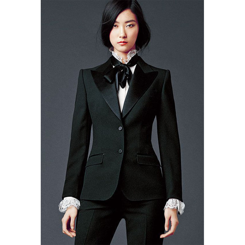 Drak Green Ladies Office Uniform 2 Piece Womens Business Suits female Trouser Tuxedos Suits for wedding outfit