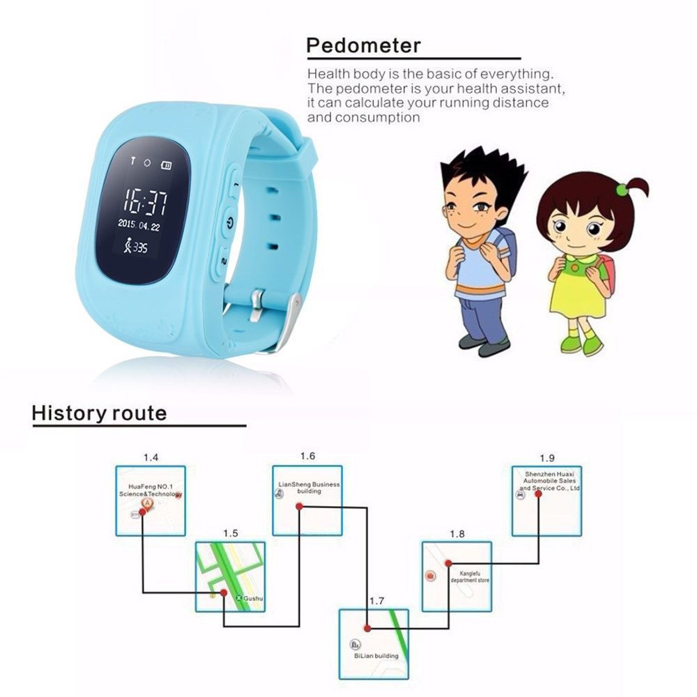 2016 Smart Kid Safe GPS Watch Wristwatch SOS Call Location Finder Locator Tracker for Kid Child Anti Lost Monitor Baby Gift Q5030