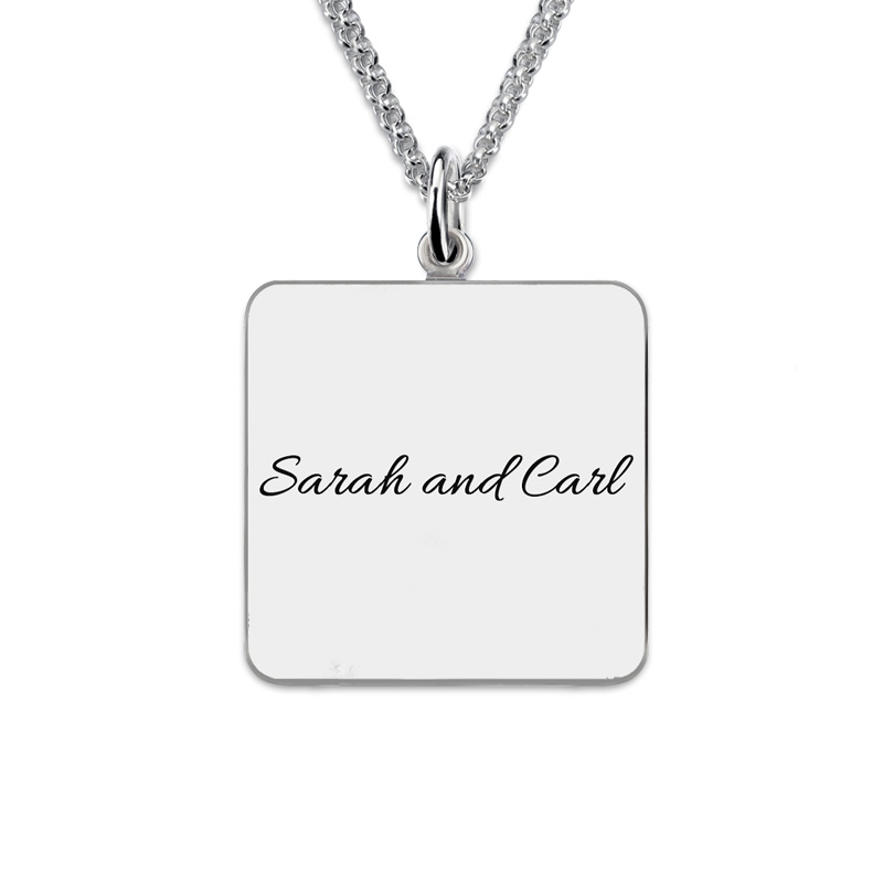 back name engraving personalized necklace gift idea