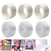 METABLE 3 Rolls Balloon Garland Arch Strip Tape 16 Feet and Decorative Glue Points for Wedding Party