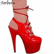 Sorbern Sexy rojo zapatos de las mujeres bailarina exótica zapatos extrema  tacones 5cd63b8310e8