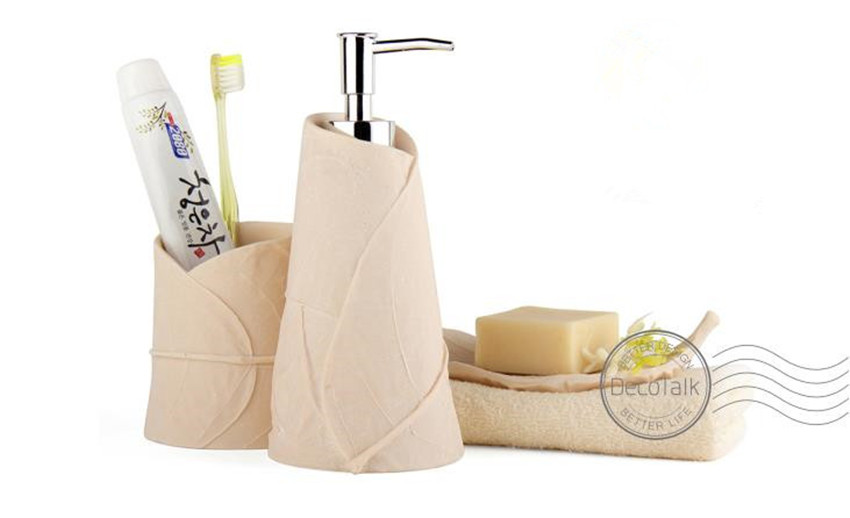 Aliexpress.com : DecoTalk Nordischen Stil Badezimmer Set Sandstein 3  Teiliges Set Blattförmige Badezimmer Dekoration Set Solid Farben Badezimmer  Supply Kits ...