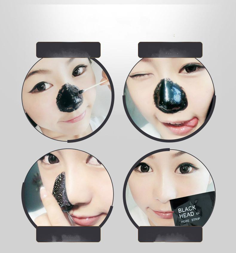 100pcs/lot PILATEN Black Mask Acne Blackhead Mask Peel Off Black Head Remover Face Mask Beauty Deep Cleansing Skin Care 19