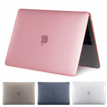 Matte Rubberized Crystal Clear Hard Case Cover For Macbook Pro 13.3 15.4 Pro Retina 12 13 15 inch Macbook Air 11 13 Laptop Case