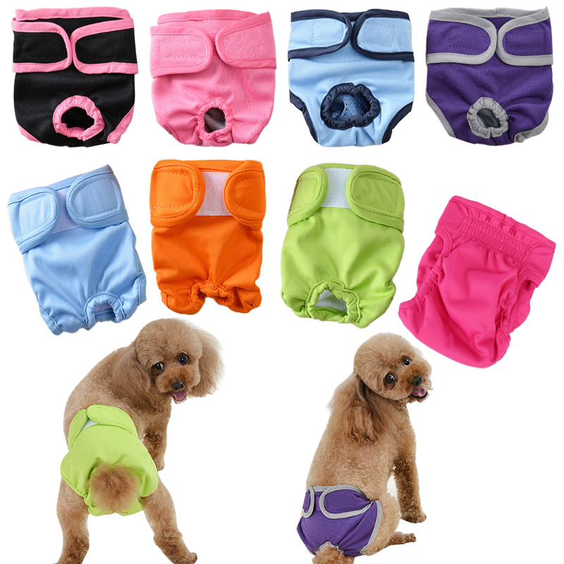 Pet Physiological Pants For Female Small Dog Puppy Washable Durable Doggie Diapers Underwear Sanitary Short Diaper Pet Underwear