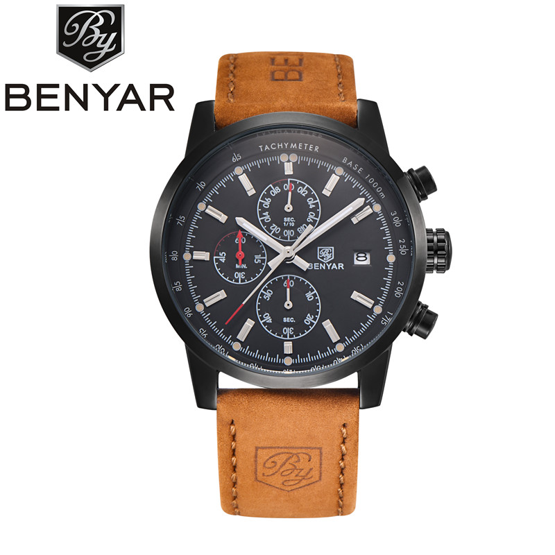 BNEYAR Mens Watches Top Brand Luxury Watch Men Chronograph Sport Army Wrist Watches for Men Clock Relogio Masculino Reloj Hombre цена 2017