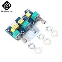 Placa de control pasivo para XH M802 módulo de potencia de preamplificador de tono, ajuste de sonido bajo, placa electrónica PCB Diy