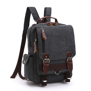 Image 4 - BERAGHINI New Fashion Men Backpack Canvas Women ckpacks School Bag Unisex Travel Bags Large Capacity Travel Laptop Backpack Bag