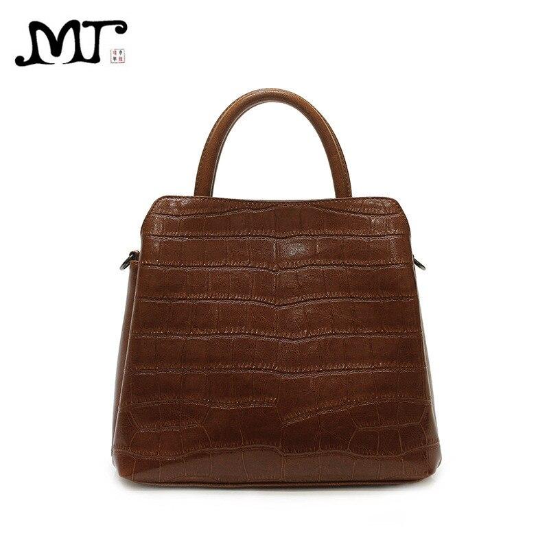 MJ Women Handbag Fashion Crocodile Leather Tote Bag Female Alligator Shoulder Handbag Ladies Large Bags Crossbody Bag for Women
