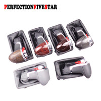 8KD713139 4GD713139 For Audi A3 A4 B8 A5 A6 C6 Q5 Q7 Black Leather Chrome Gear Shift Knob AT Gaiter LHD Only