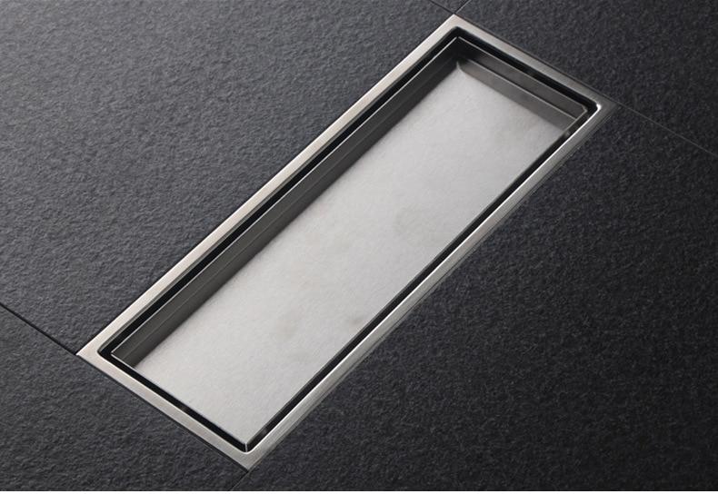 Stainless Steel Floor Drain Can Hide Drainer Shower Floor Flip Kitchen Balcony Sink Filter Floor Drain Family Shower Bathroom
