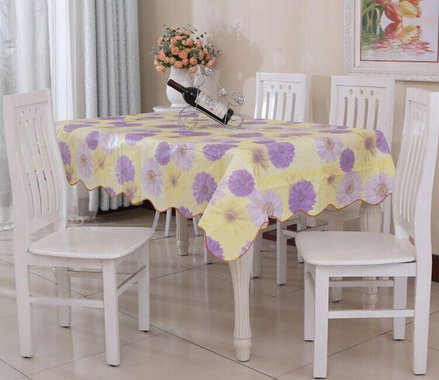 nappe en plastique tanche nappe rectangle style pour le mariage toile cire pour table nappes toile - Toile Ciree Pour Table De Jardin