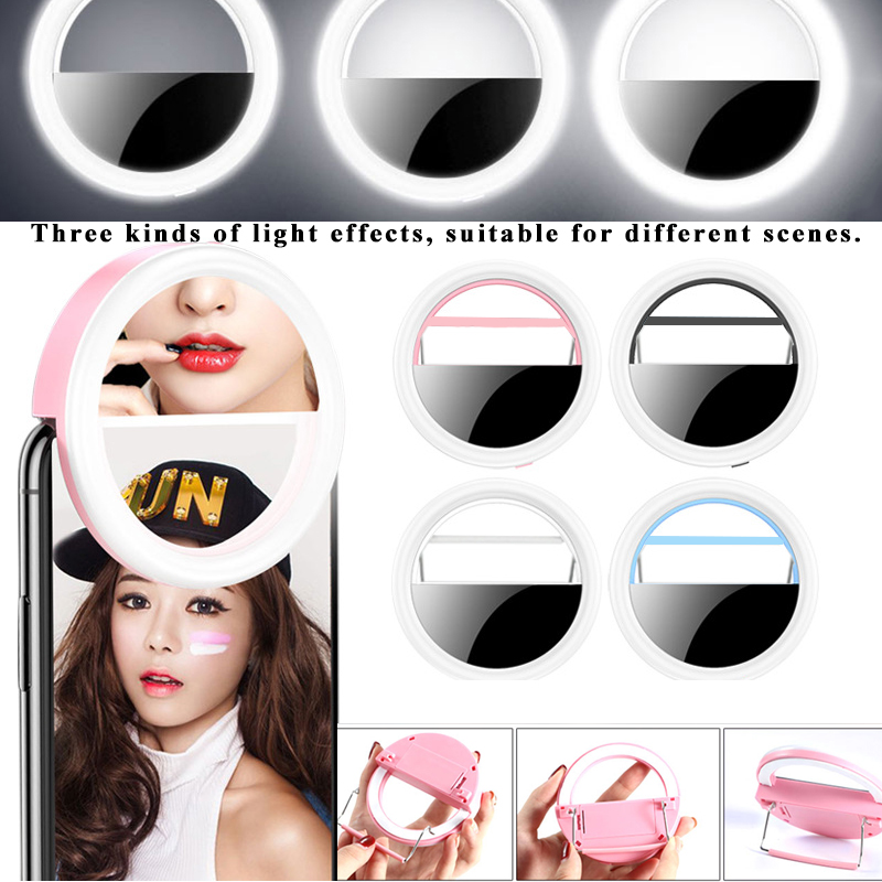 Beauty Selfie Led Light Camera Phone Photography Selfie Light Cosmetic Mirror not included the battery