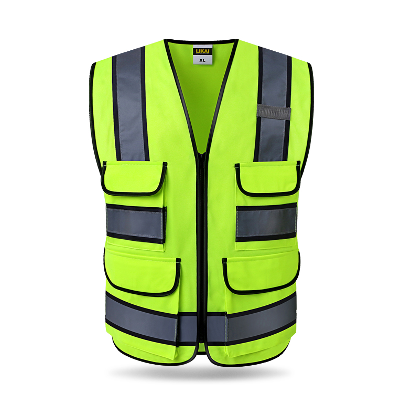 CAUTION CYCLIST Hi Vis Waistcoat Hi Visibility Safety Vest Reflective