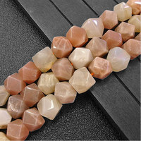 11.5x12mm Orange Sunstone Faceted Cube Natural Stone Beads For Jewelry Making Beads 15'' Needlework DIY Beads Trinket