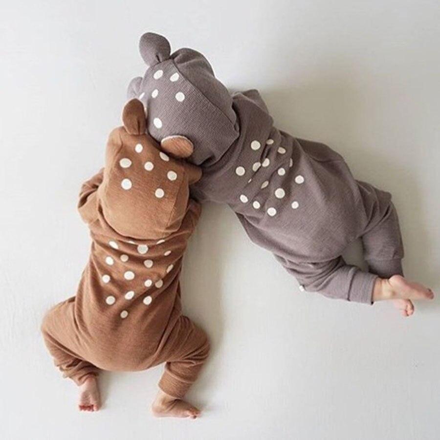 Leuke Animal Bear katoen pasgeboren lange mouw Baby rompertjes terug - Babykleding - Foto 1