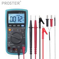 Proster 6000 Counts Multimeter Auto/Manual Ranging TRMS Backlight With Test Leads K Type Thermocouple AC/DC Ammeter Voltmeter