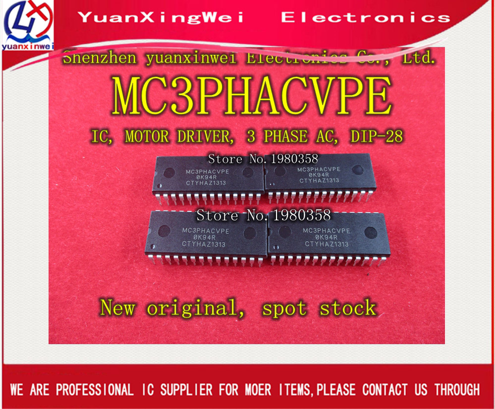 New original Free shipping 2pcs lot DIP28 MC3PHACVPE MC3PHAC MC3PHACVP Best quality