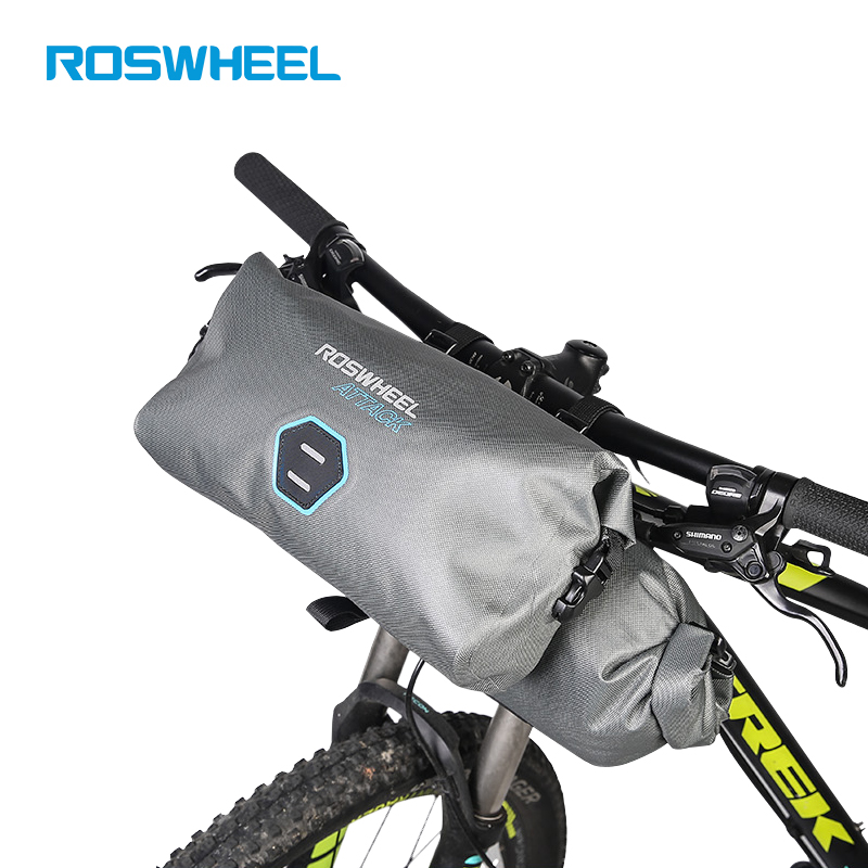 ROSWHEEL 2pcs/set 12L Full Waterproof 840D TPU MTB Road Bike Bags Handlebar  Front Bag Cycling Bike Bicycle Accessories ATTACK roswheel attack series waterproof bicycle bike bag accessories saddle bag cycling front frame bag 121370 top quality