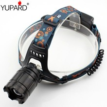 YUPARD zoomable  Q5 5W LED Head Light HEADLAMP FLASHLIGHT hunting camping Frontals Lantern rechargeable 18650 battery red laser